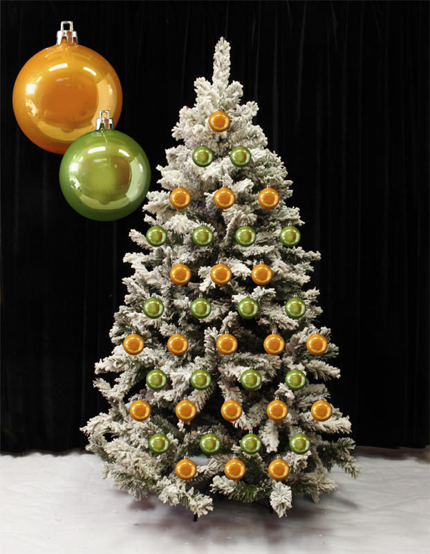 deco sapin noel orange